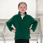 Jerzees Kid's full zip outdoor fleece