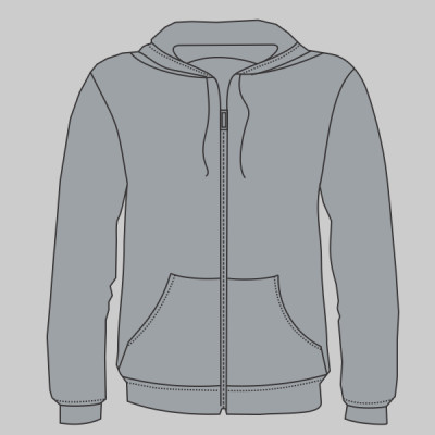Bella+Canvas Unisex tri -blend full zip hoodie